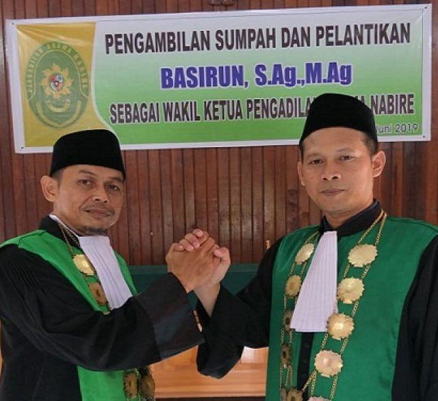Basirun resmi menjabat wakil ketua Pengadilan Agama Nabire