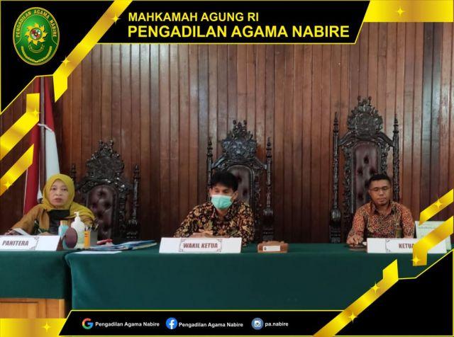 Pengadilan Agama Nabire melaksanakan Rapat Evaluasi Bulanan 09-09-2021